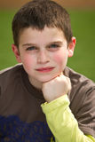 Boy smiling. Happy Boy with blue eyes smiling, portrait Royalty Free Stock Photography