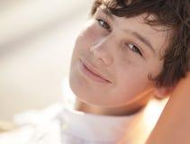 Boy smiling at the camera Royalty Free Stock Photos