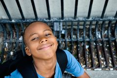 Boy smiling from ear to ear Stock Image