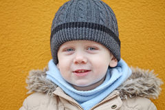The boy is smiling Royalty Free Stock Images