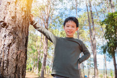 Boy smiling outdoor Stock Image
