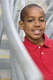 Boy (9-11) smiling, portrait, close-up Stock Photography