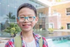 Boy smiling at school Royalty Free Stock Image