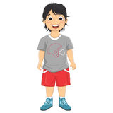 Boy Smiling Vector Illustration Stock Image