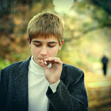 Boy Smoking Royalty Free Stock Photography