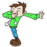 Boy sneeze Stock Images