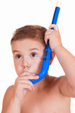 Boy with snorkeling Royalty Free Stock Photo