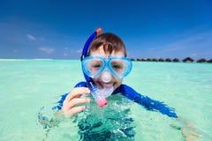 Boy snorkeling Stock Photography