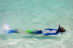 Boy snorkeling Royalty Free Stock Photo