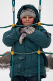 Boy in snow Stock Image