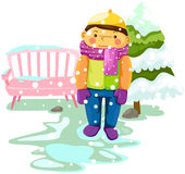 Boy in snow Royalty Free Stock Images