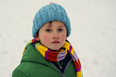 Boy on snow Royalty Free Stock Photo
