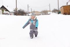 Boy on snow Stock Image