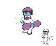 Boy snowboarder Stock Photos