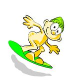 Boy Snowboarding Royalty Free Stock Images
