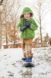 Boy snowboarding Royalty Free Stock Photography
