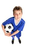 Boy with soccer ball Royalty Free Stock Images