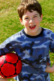 Boy with soccer ball Stock Photo