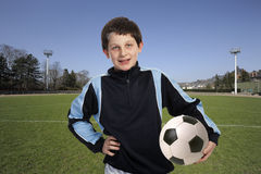 Boy with soccer ball Stock Image