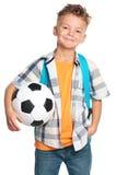 Boy with soccer ball Stock Photos