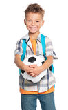Boy with soccer ball Stock Images