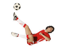 Boy with soccer ball, Footballer Stock Photos