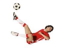 Boy with soccer ball, Footballer Stock Photos