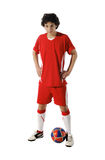 Boy with soccer ball, Footballer Royalty Free Stock Photos