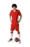 Boy with soccer ball, Footballer Royalty Free Stock Photos
