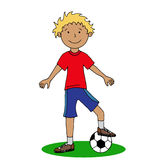 Boy with a soccer ball Stock Photography