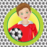 Boy soccer player on the background Royalty Free Stock Photography
