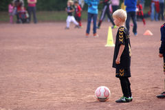 The boy the soccer player Stock Images