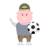 Boy soccer player Royalty Free Stock Photography