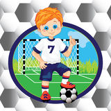 Boy soccer player Royalty Free Stock Photo