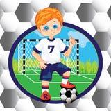 Boy soccer player Royalty Free Stock Photo