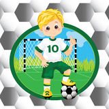 Boy soccer player Royalty Free Stock Images