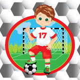 Boy soccer player Stock Images