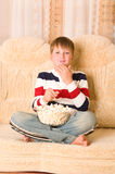 Boy on sofa Royalty Free Stock Photography