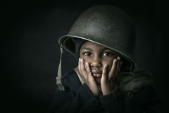 Boy soldier Royalty Free Stock Photos