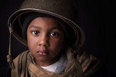 Boy soldier Stock Photo