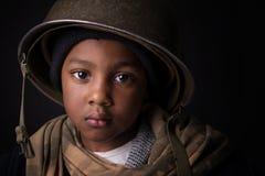 Boy soldier Stock Photo