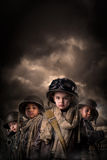 Boy Soldiers Royalty Free Stock Image