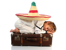 Boy with  sombrero Stock Photos