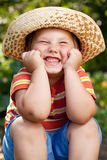 Boy in a sombrero Stock Images