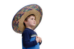 Boy with sombrero Royalty Free Stock Photography