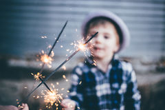 Boy With Sparklers