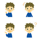 Boy, speaking,surprised,confused Stock Photography