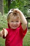 Boy specifying forward. Portrait of the boy specifying forward Royalty Free Stock Image