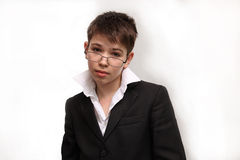 Boy spectacled Stock Photo