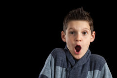 Boy With Spikey Hair Surprised Stock Image